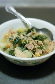 Kale and Garbanzo Bean Soup