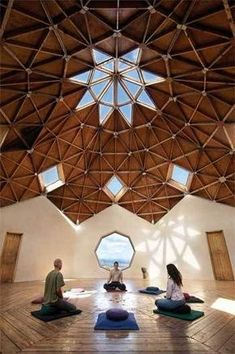 Spacious meditation room From: Workout Wellness :: The Official Taos Vacation Guide :: Taos New Mexico Meditation Chair, Best Meditation, Meditation Retreat, Meditation Center, Meditation Space, Yoga Retreat Center, Eco Construction, Geodesic Dome Homes, Taos New Mexico