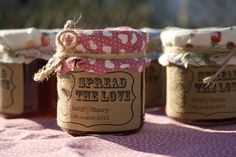 Jam or Preserves for wedding favour! I love the packaging!