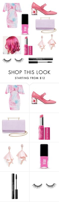 """""""pink code in a birthday party"""" by sharmashalini ❤ liked on Polyvore featuring Prada, M2Malletier, Bare Escentuals, Oscar de la Renta Pink Label, Jin Soon and tarte"""
