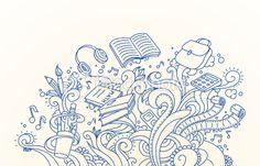 School Doodles Royalty Free Stock Vector Art Illustration