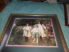 Large Home Interiors Framed Print Victorian Children George Harcourt Lot N1