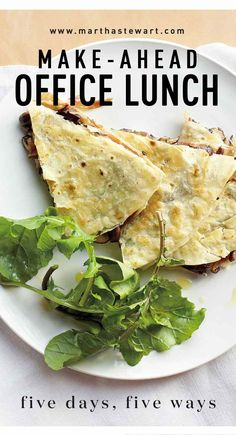 Make-Ahead Office Lunch: Five Days, Five Ways | Martha Stewart Living - A homemade lunch is an obvious health- and money-saver, and as creative culinarians, we ought to be leading the charge toward wholesome bagged lunches. But we, too, often need a few hours to hit our stride -- and the only thing less appealing than fixing lunch in the morning is eating the same leftovers five days in a row.