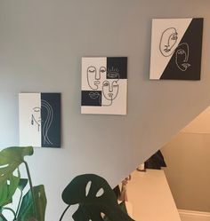 Mini Canvas Art, Diy Canvas, Wall Canvas, Canvas Painting Tutorials, Acrylic Painting Canvas, Line Art Images, Outline Art, Embroidery Hoop Art, Minimalist Art