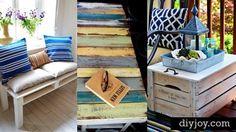 20 Brilliant DIY Pallet Furniture Design Ideas to Inspire You - diy pallet creations Pallet Furniture Designs, Furniture Projects, Rustic Furniture, Diy Furniture, Wooden Projects, Pallet Projects, Diy Projects, Pallet Ideas, Homemade Furniture