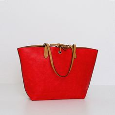 Bolso shopper en rojo