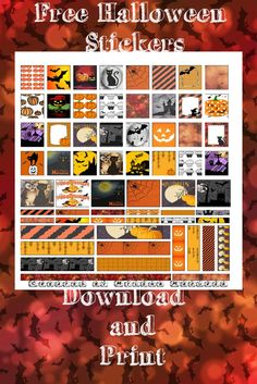 Free Halloween stickers, download and print. They fit the mini planners
