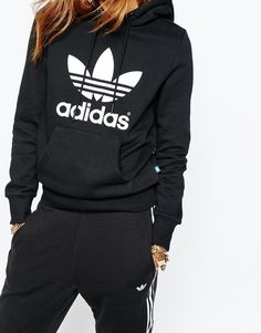 Image 3 of adidas Originals Pull Over Hoodie With Trefoil Logo ,Adidas shoes #adidas #shoes