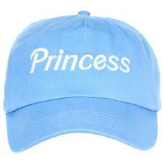 PRINCESS CAP ($25) ❤ liked on Polyvore featuring accessories, hats, caps hats, baseball cap, baseball hats and baseball cap hats