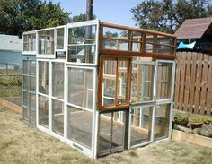 Recycled greenhouse idea! How does one get in though?!