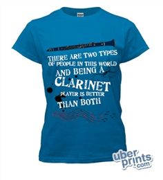 The front of my possible Clarinet section shirt I designed on UberPrints.com