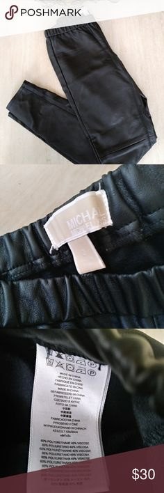 Offers!! Michael Kors Faux Leather Legging Pants 2 Like new! No flaws at all!! Michael Kors Pants Leggings