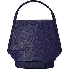 Pre-owned Guy Laroche Raffia and Gross Grain Ribbon Purse (1,215 BAM) ❤ liked on Polyvore featuring bags, handbags, evening bags and minaudières, handbags and purses, blue evening bag, summer purses, vintage purse, navy blue handbags and summer handbags