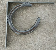 FreeShip Real Horseshoe 2 Shelf Brackets NWT Rustic Western Texas Ranch Cowboy