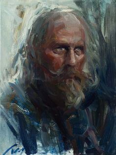 "ArtStation - Male character (solider) from movie ""Game of Thrones"", Jay Wong oil painting,portrait,fine art,game of thrones,old man,gray hair"