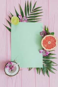 Pink wooden surface with paper for messages and decorative fruits Free Photo Cute Wallpapers, Wallpaper Backgrounds, Iphone Wallpaper, Vintage Flower Backgrounds, Summer Backgrounds, Pink Wallpaper, Photo Libre, Belle Photo, Banners