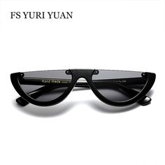 c5ae74e0c755 2017 New Fashion Cat Eye Sunglasses Women Cool Small Size Half Frame Candy  Color HD Sun