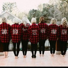 Bridal Party RED Flannel Shirt Bride/Wedding/Bridal party - Fall Shirts - Ideas of Fall Shirts - Monogram Flannel Wedding Party Shirts // bridesmaids bridesmaids gifts getting ready wedding day fall wedding autumn Red Flannel Shirt, Mens Flannel, Red Shirt, Perfect Wedding, Dream Wedding, Elegant Wedding, Cabin Wedding, Rustic Wedding, Wedding Party Shirts