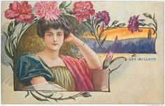 Reclame - Cafe MOKA WILLIOT -  original Art nouveau postcard circa 1908