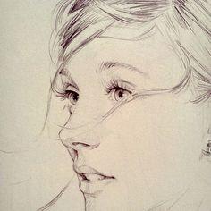 David Malan repinned from blog Brilliant Anyway: drawing up close