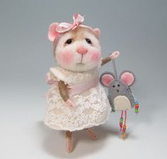 Hello! I have included the Story of Rodanta below the description if you would like to know where all of my critters live. Meet Peanut Bunner & Jilly Sannich the bunny and mouse class mascots in the 2nd and 3rd photos. They are the mouse and bunny you would create in this class. I am