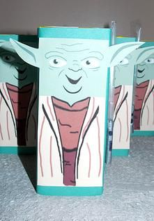 Yoda juice Boxes!!! So adorably cute! Template only at splatterpalette.com.