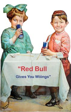 Vintage-style Red Bull advert, by BiancaP - www.worth1000.com