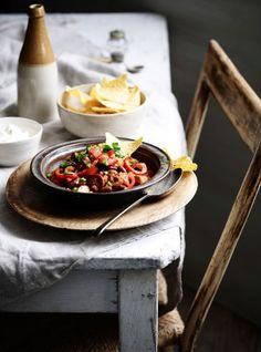 Ian Wallace Photographer - Could be veggie stew with homemade sweet potato chips?