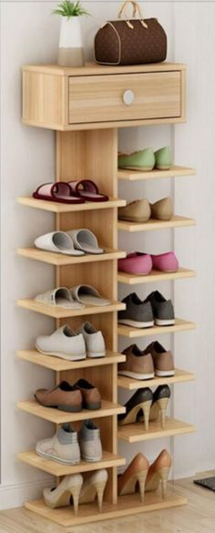 Shoe closet storage house 44 Ideas for 2019 Garderobe Design, Diy Furniture, Furniture Design, Furniture Projects, Diy Home Decor, Room Decor, Diy Casa, Shoe Organizer, Closet Storage
