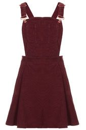 MOTO Burgundy Cord Pini Dress
