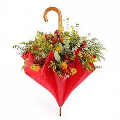 Букет в зонтике. Композиция цветов в зонтике. Цветочный микс. (Эквадор)