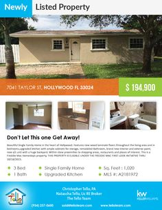 7041 Taylor ST, Hollywood FL 33024