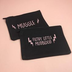 Calling all #Muggles! Have you seen our #HarryPotter zippy bags? You can use them as pencil cases make up bags or as a sassy clutch on a night out! Link in profile