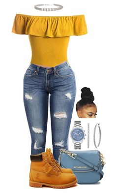 """Untitled #2143"" by basnightshine1015 ❤ liked on Polyvore featuring Sans Souci, MICHAEL Michael Kors, Humble Chic, Timberland and GUESS"