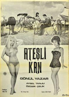 ATEŞLİ KAN 1962 Cinema Film, Film Movie, Movies, Films, Film Archive, Arnold Schwarzenegger, Film Posters, Erotic Art, Cover Art