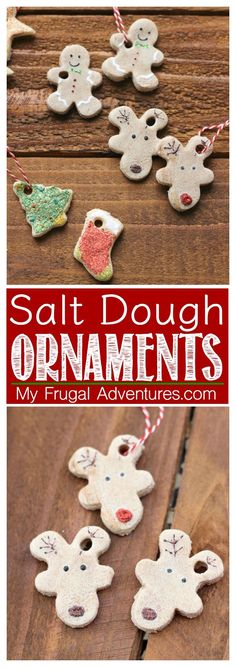 Salt Dough ornaments or gift tags for Christmas- such an adorable handmade holiday craft or children's craft.(Diy Ornaments Salt Dough)