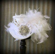 Mini Top Hat Bridal Mini Top Hat Off White Steampunk