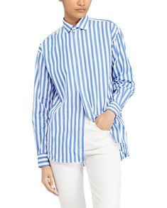 c9a8cbb4ac Buy Polo Ralph Lauren Striped Shirt, Blue/White from our Shirts & Tops  range at John Lewis & Partners.