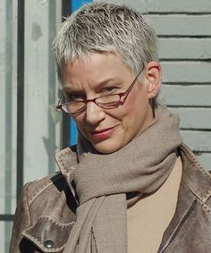 Very short Pixie Cut for women over 60 Edgy Pixie Hairstyles, Short Pixie Haircuts, Older Women Hairstyles, Very Short Pixie Cuts, Edgy Pixie Cuts, Really Short Hair, Super Short Hair, Short Hair Older Women, Haircut For Older Women