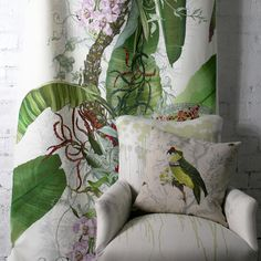 A little bit of the Tropics . - Architecture and Home Decor - Bedroom - Bathroom - Kitchen And Living Room Interior Design Decorating Ideas - Interior Design Inspiration, Decor Interior Design, Interior Design Living Room, Interior Decorating, Room Interior, Decorating Ideas, Timorous Beasties, British Colonial Style, Tropical Fabric