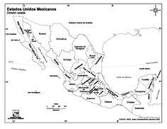 Mapa de la Republica Mexicana con nombres y división