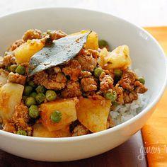 Ground Turkey with Potatoes & Spring Peas