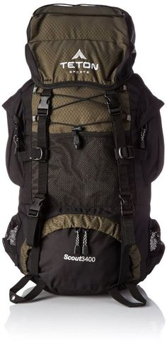 Compact Internal Frame Backpack with Pockets Scouting Camping Hiking Trips Field #TetonSports #Backpack