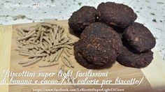 (PROVATI ED APPROVATI) Biscotti banana e cacao senza olio e senza burro light (33 cal l'uno)