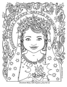 Feast Of The Birth Mary Coloring Sheet