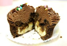cheesecake filled chocolate cupcakes