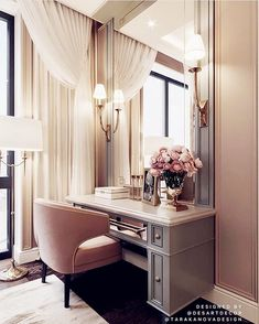 Soft rosy mauve can be chic, flirty and feminine making it a perfect choice for a dressing room. Image: Desart Decor Design by Tara Kanova Interior Design Home Bedroom, Bedroom Decor, Bedroom Furniture, Master Bedroom Closet, Budget Bedroom, Queen Bedroom, Decor Room, Bedroom Wall, Bedroom Ideas