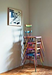 recoloured Ercol chairs