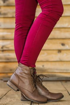 Basic Training Boots-Milk Chocolate | The Red Dress Boutique