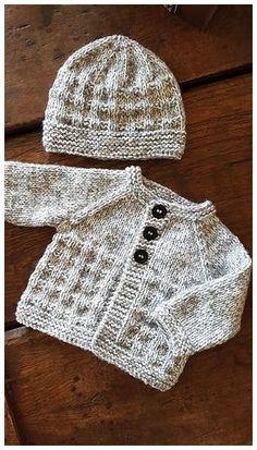 Baby Knitting Patterns Free Newborn, Baby Cardigan Knitting Pattern Free, Knitting Patterns Boys, Baby Sweater Patterns, Knitted Baby Cardigan, Knit Baby Sweaters, Knitted Baby Clothes, Baby Hats Knitting, Knitting For Kids